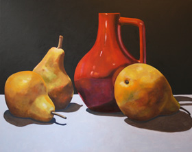 stilleven met peren